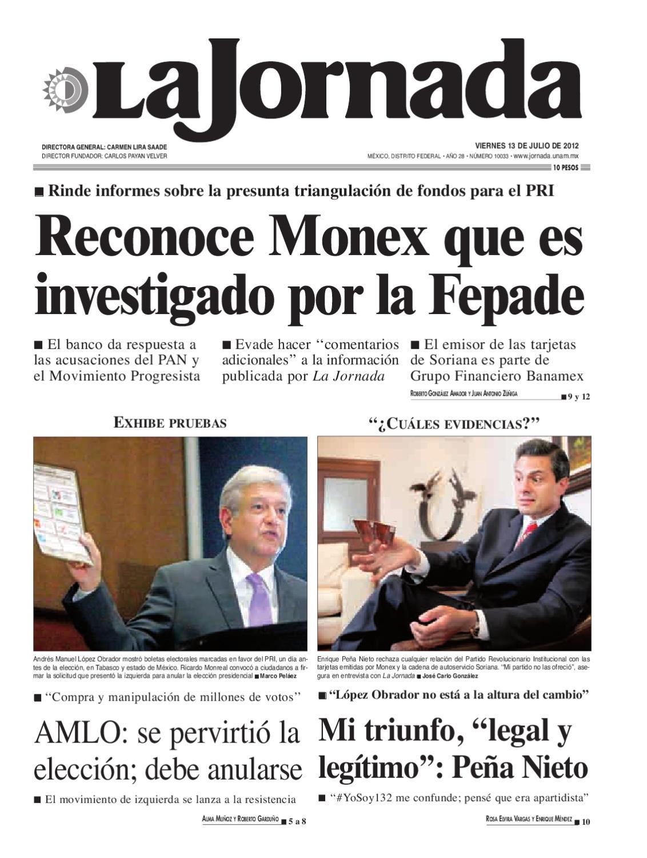 La Jornada, 07/13/2012 by La Jornada: DEMOS Desarrollo de Medios SA ...