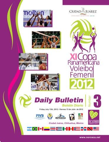 4993b86353 Bulletin No.3 XI Women's Pan Am Cup in Ciudad Juárez, México 2012