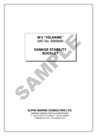 damage stability booklet sample by alpha marine consulting ltd issuu