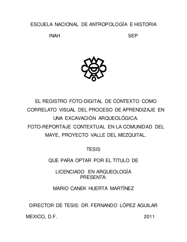 EL REGISTRO FOTO-DIGITAL DE CONTEXTO COMO CORRELATO VISUAL by CANEK ...