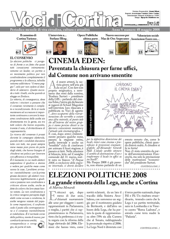 Voci di Cortina - Maggio 2008 by Voci di Cortina - issuu aec786789897