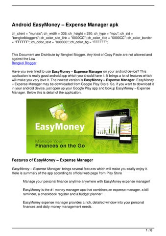Android EasyMoney –