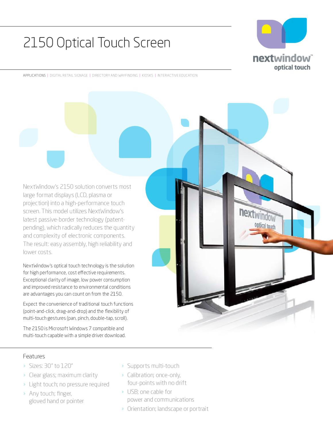 Nextwindow DS2150 touch profile by Mindstec com - issuu