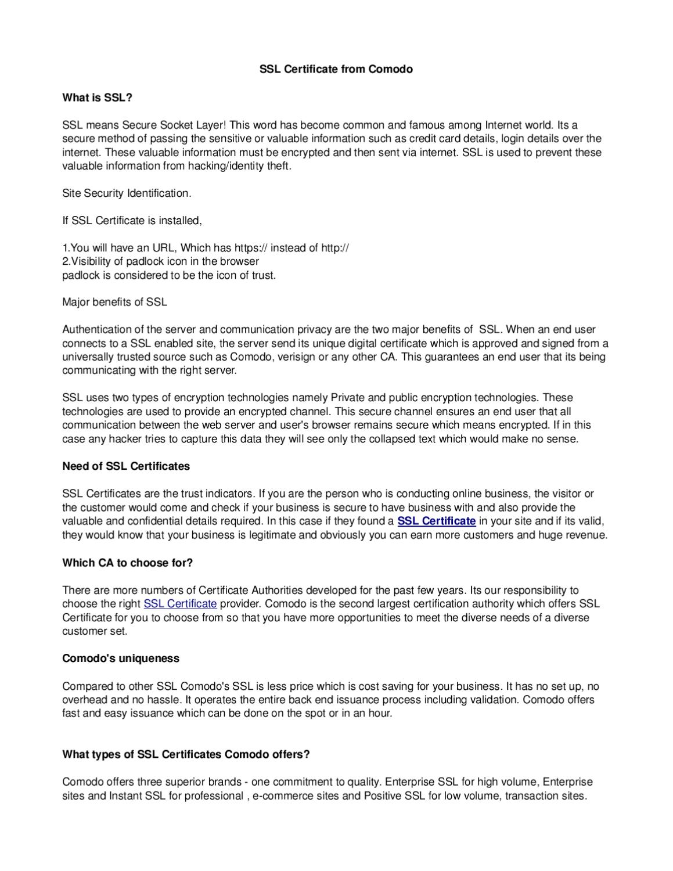 Buy Best SSL Certificates by carolina rio - issuu