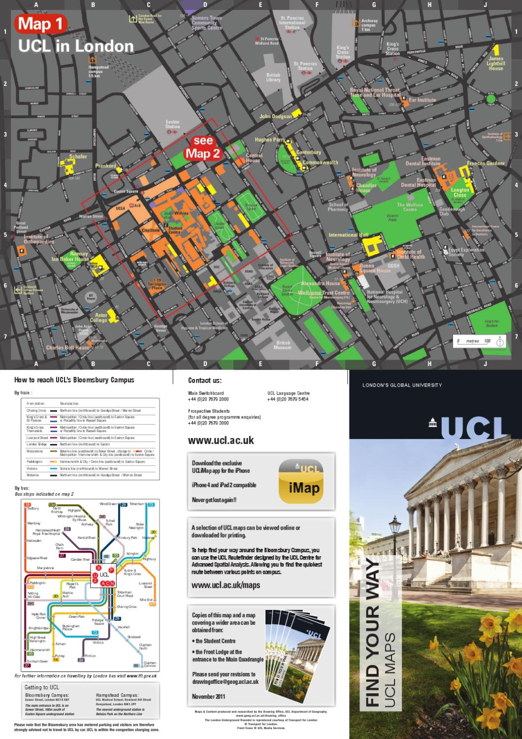 Ucl Campus Map By University College London Issuu