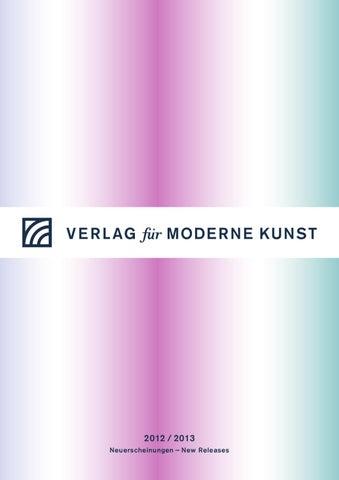 VFMK Catalog 2012/2013 By Verlag Für Moderne Kunst   Issuu