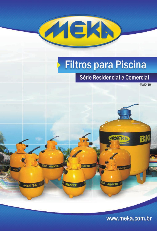 Cat logo meka filtros para piscina mai 2010 by meka for Catalogo de piscinas