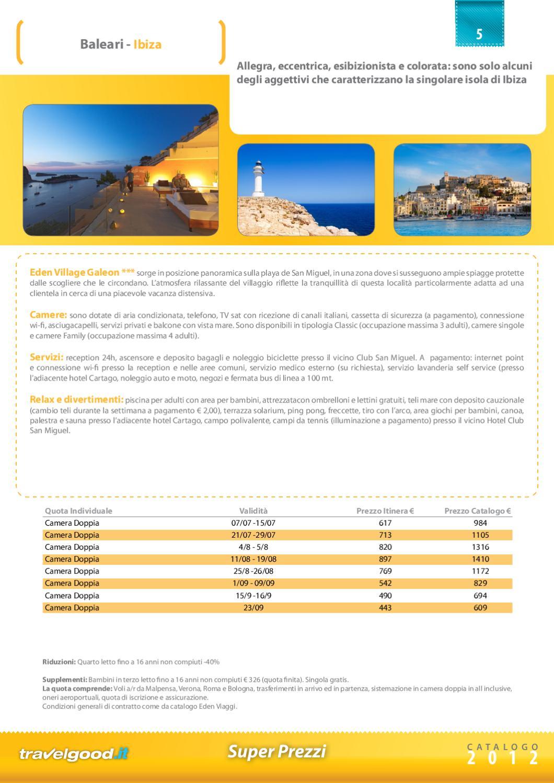 Super Prezzi Senza Sorprese Estate 2012 By Travelgood It
