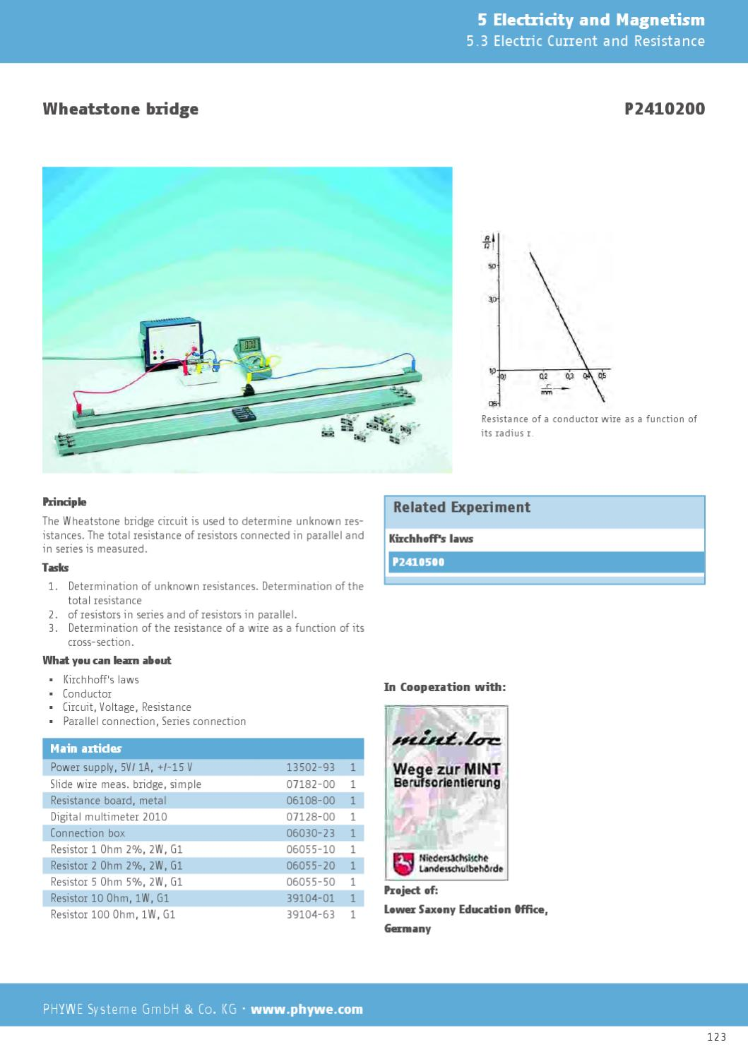 EN Physics: Laboratory Experiments by PHYWE Systeme GmbH & Co KG - issuu