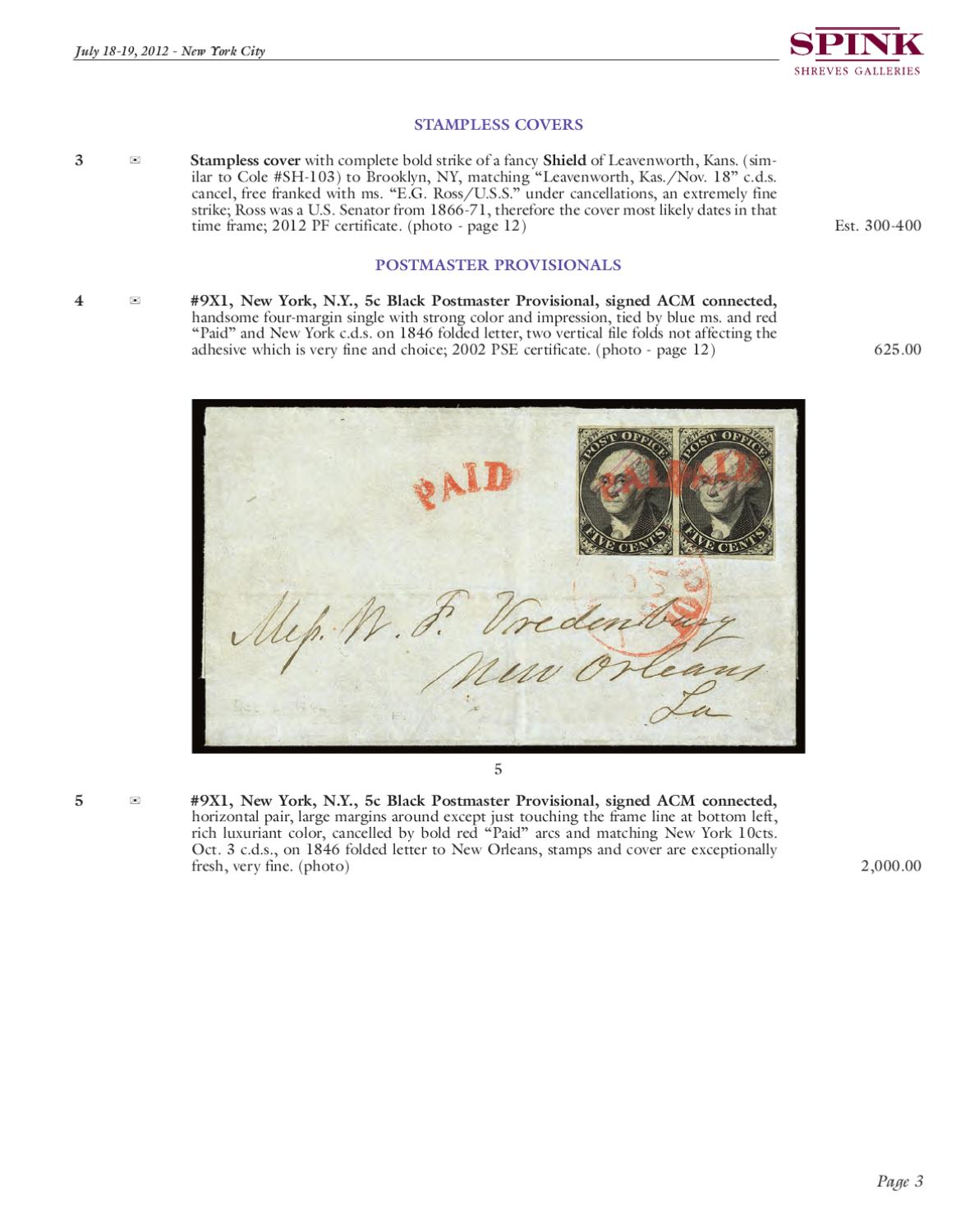 July Philatelic Collector's Series Sale by Spink and Son - issuu