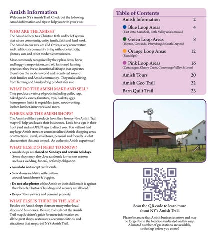 Amish Trail Brochure & Map by Cattaraugus County - issuu on