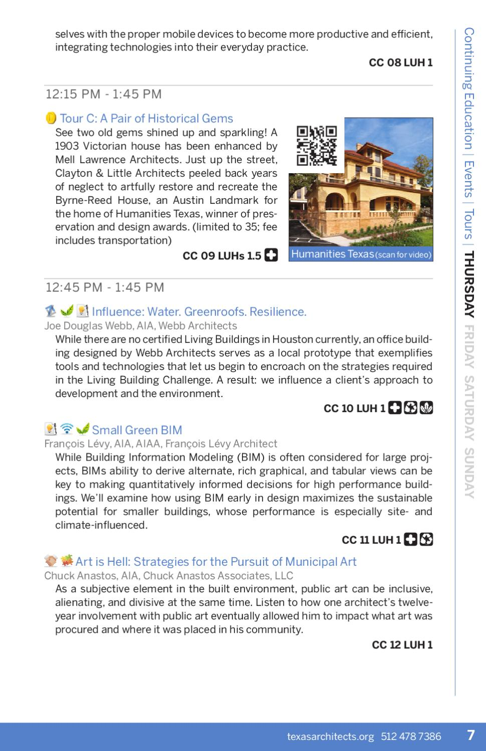 Texas Architects Convention 2012 Registration Guide By Texas Society Of Architects Issuu