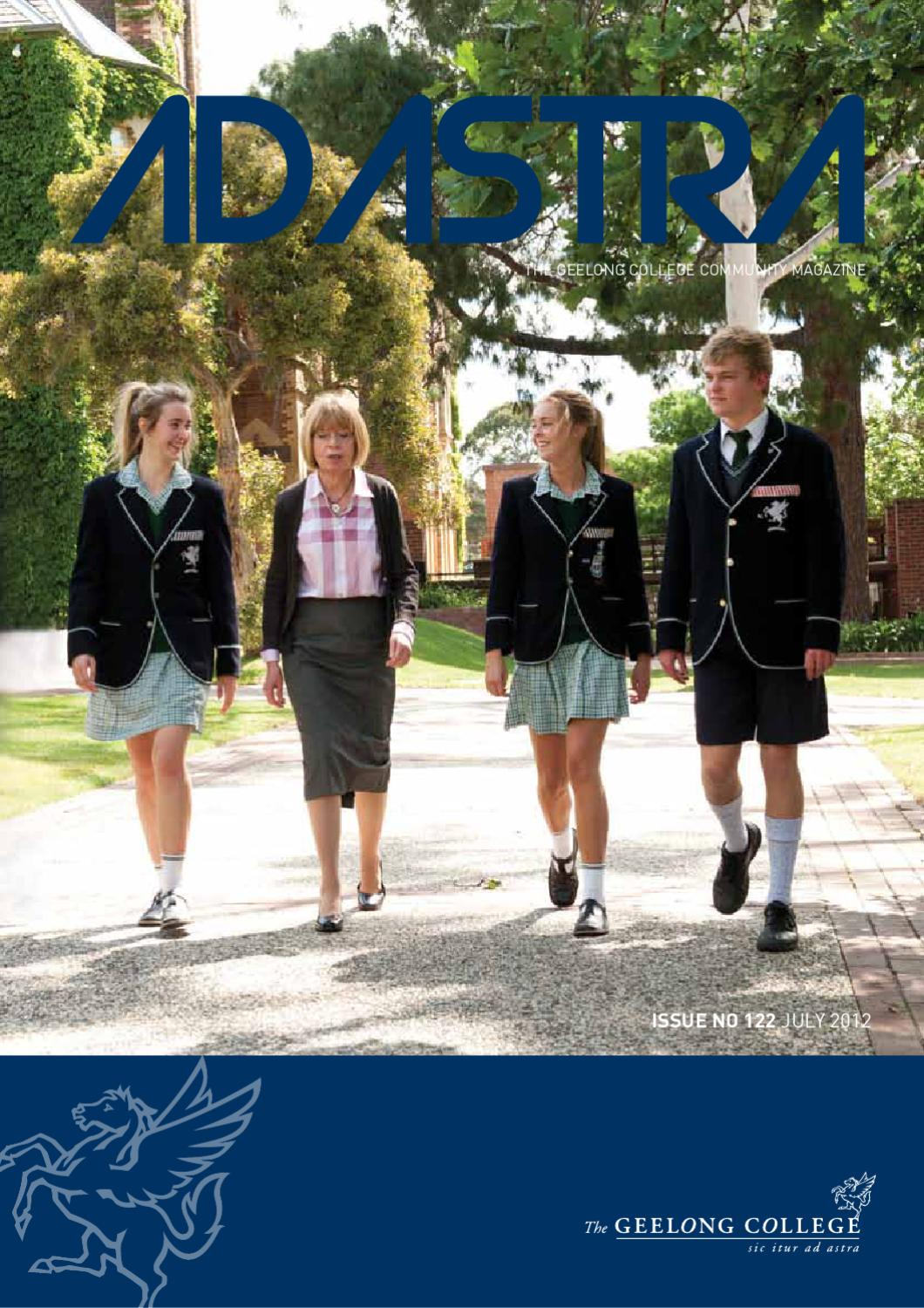Ad Astra No 122 July 2012 by Geelong College - issuu