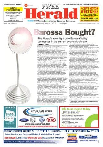 9ec2bc8ef7a July 18th Edition by Barossa Herald - issuu