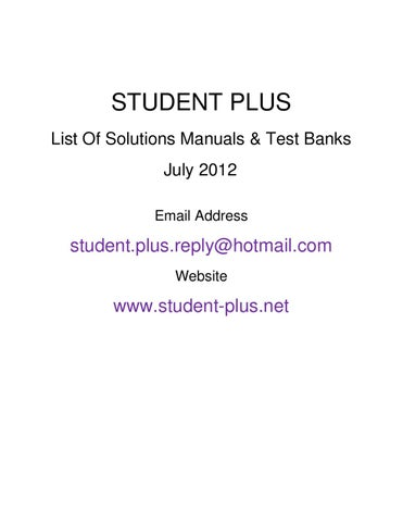 Solution manuals test banks list july 2012 by student plus net page 1 fandeluxe Choice Image