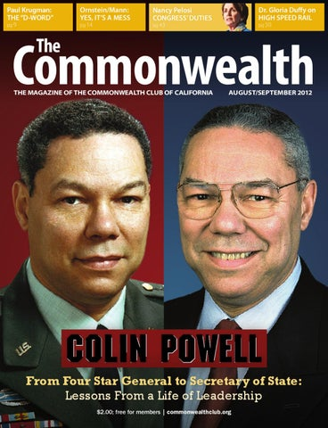 The Commonwealth Augustseptember 2012 By The Commonwealth Club Of