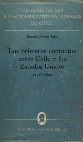 4156818421ad Los primeros contactos entre Chile y los Estados Unidos 1778-1809 by ...