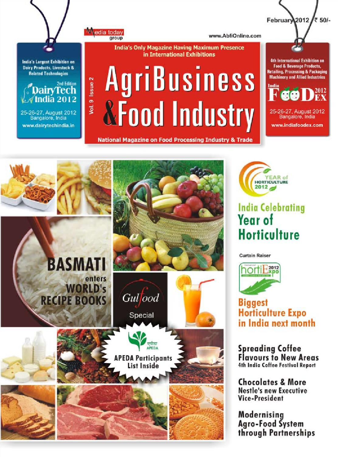 AGRI BUSINESS & FOOD INDUSTRY- February Issue by Media Today