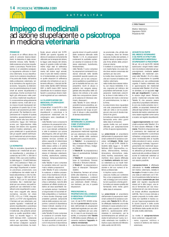 Ricetta Veterinaria Barbiturici.Professione Veterinaria Anno 2001 Nr 3 By E V Soc Cons A R L Issuu