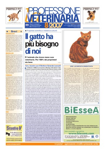 Professione Veterinaria Anno 2007 Nr 8 By Ev Soc Cons A Rl