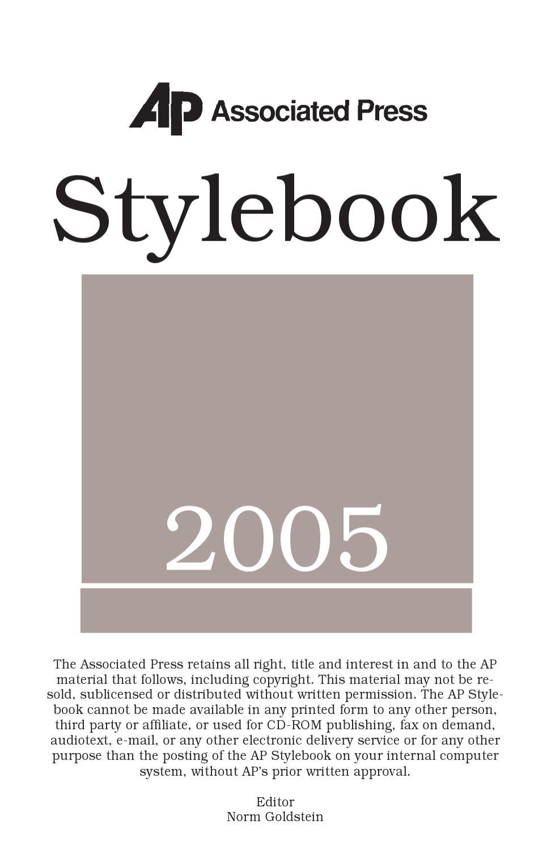 Ap stylebook 2005 by bilal hussain issuu fandeluxe Choice Image