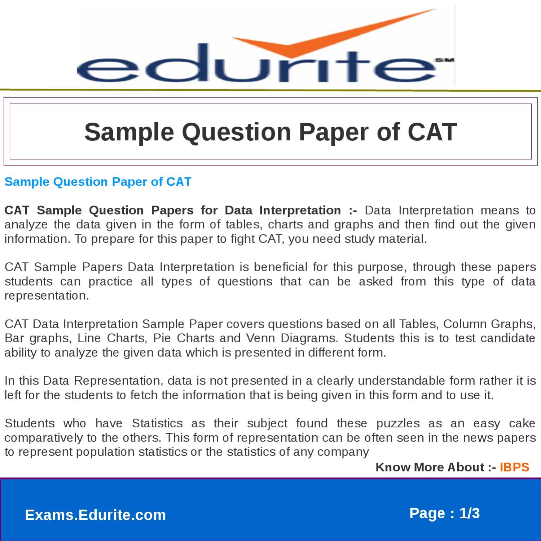 sample question paper of cat by gaurav saini