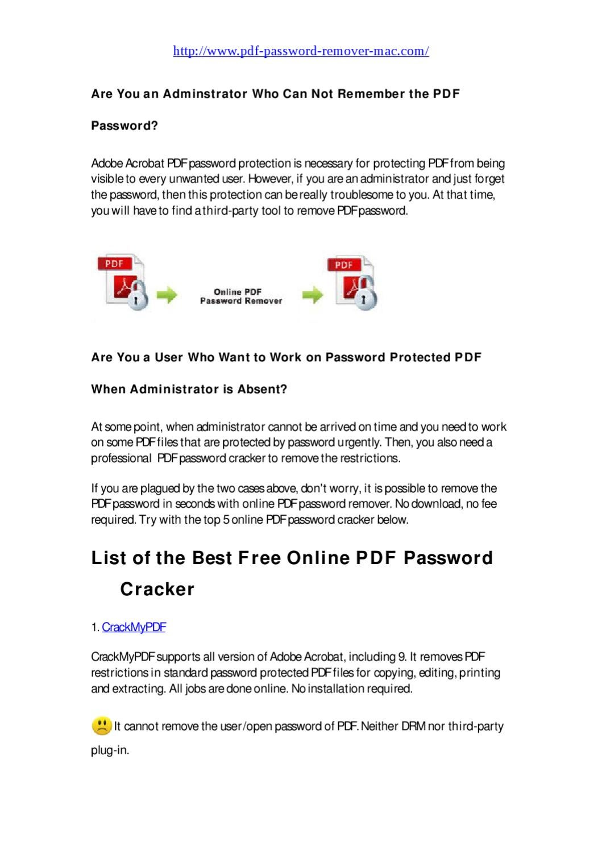 pdf password breaker for mac