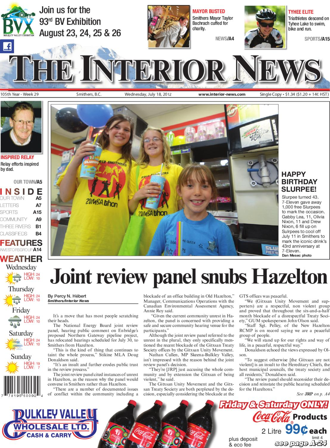Smithers Interior News, July 18, 2012 by Black Press Media Group