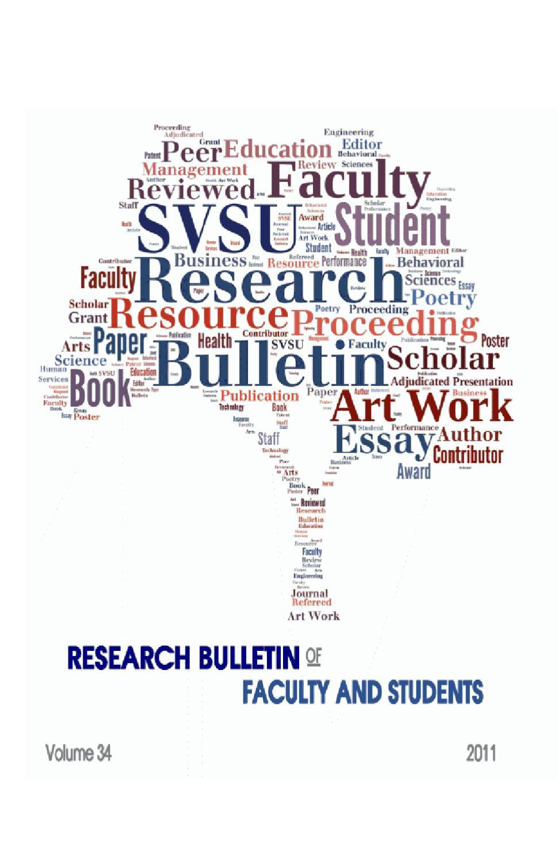 2012 SVSU Research Bulletin by Saginaw Valley State University - issuu