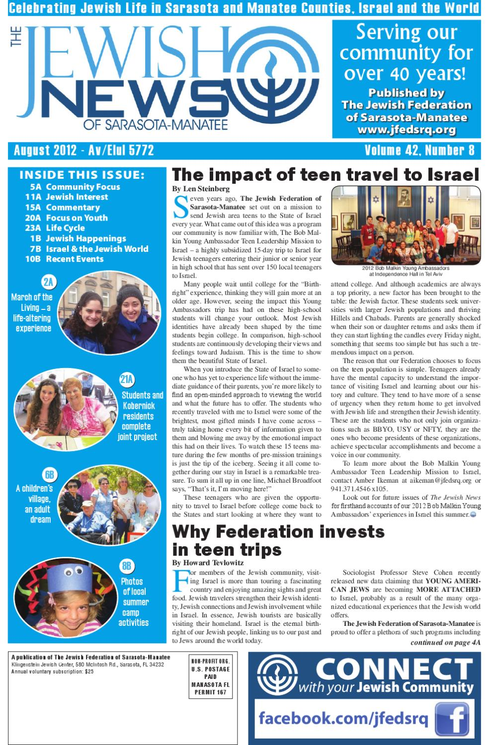 The Jewish News - August 2012 by The Jewish Federation of Sarasota ...