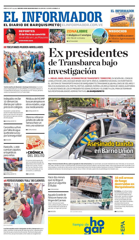 El Informador Impreso 2012 07 19 By El Informador Diario Online  # Muebles Tio Alirio