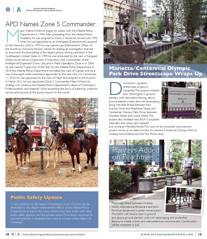 CAP/ADID Summer 2012 Newsletter by Central Atlanta Progress