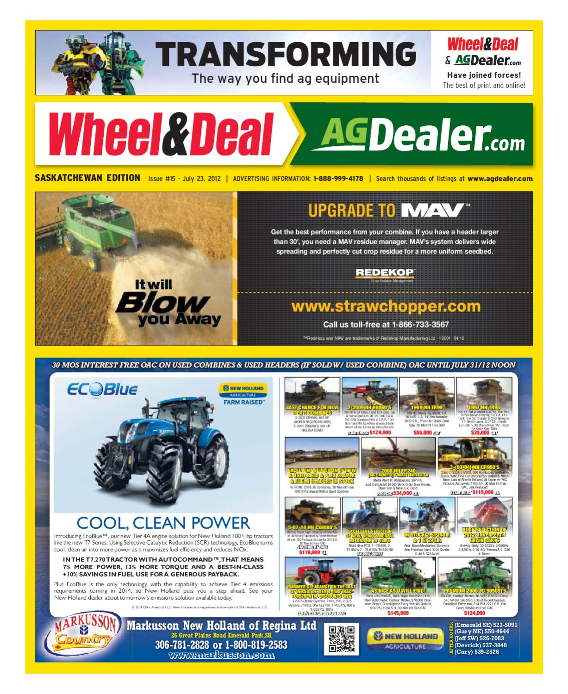 70c88e5634f Wheel & Deal Saskatchewan, July 23, 2012 by Farm Business  Communications - issuu