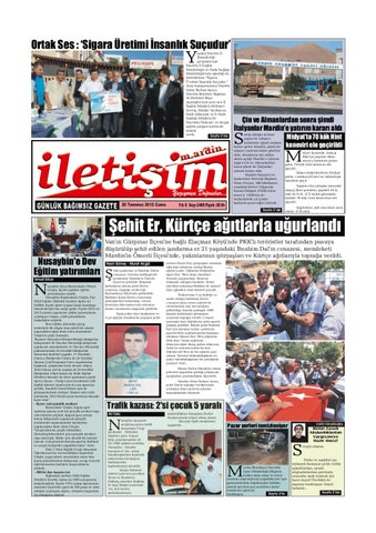 20 Temmuz 212 Cuma Gazete Sayfalari By Mardin Iletisim Gazetesi