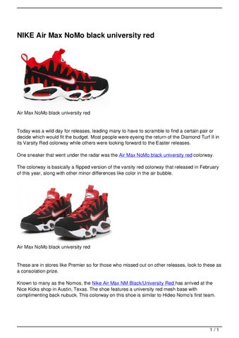 online retailer 9f29d ae241 Page 1. NIKE Air Max NoMo black university red