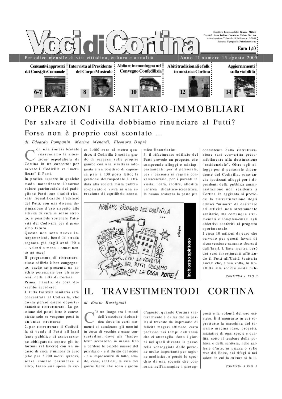 Voci di Cortina - Agosto 2005 by Voci di Cortina - issuu 4c626f7a852