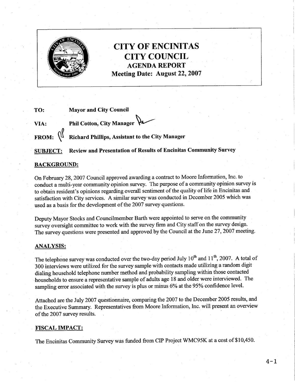 Encinitas City Council Agenda