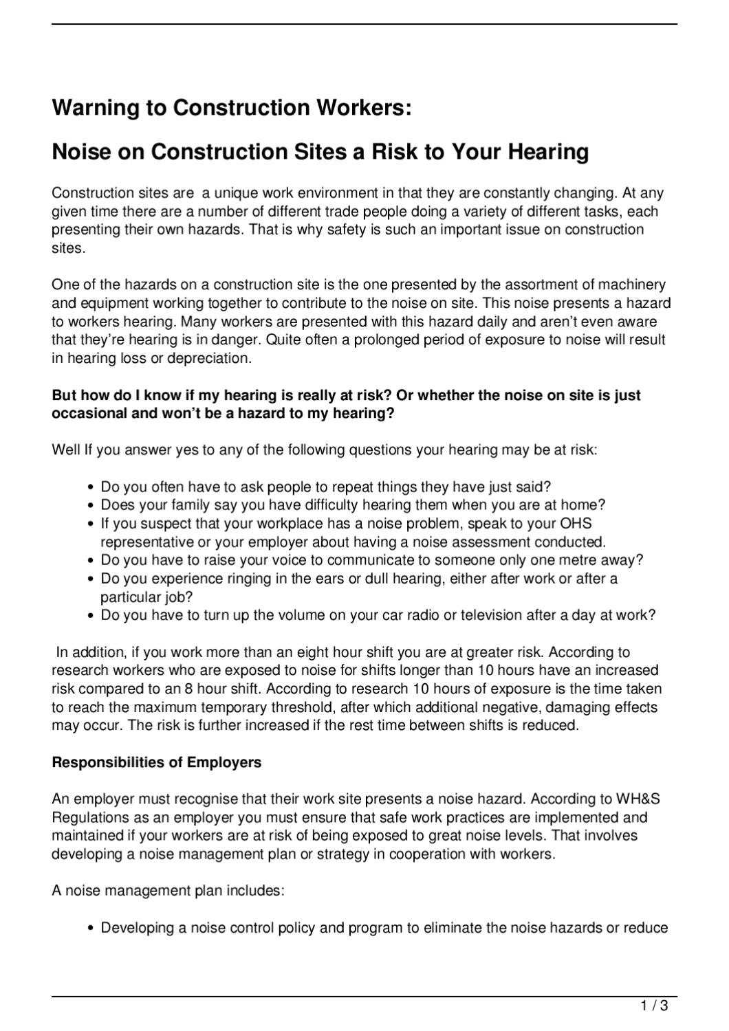 Warning to Construction Workers: by Peter Reynolds - issuu