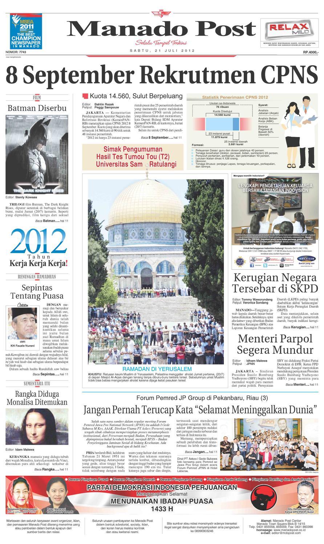 Manado Post Sabtu 21 Juli By Issuu Dji Samau