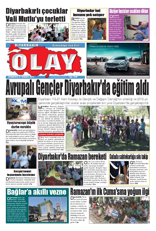 21 07 2012 Gazete Sayfalari By Diyarbakir Olaygazetesi Issuu