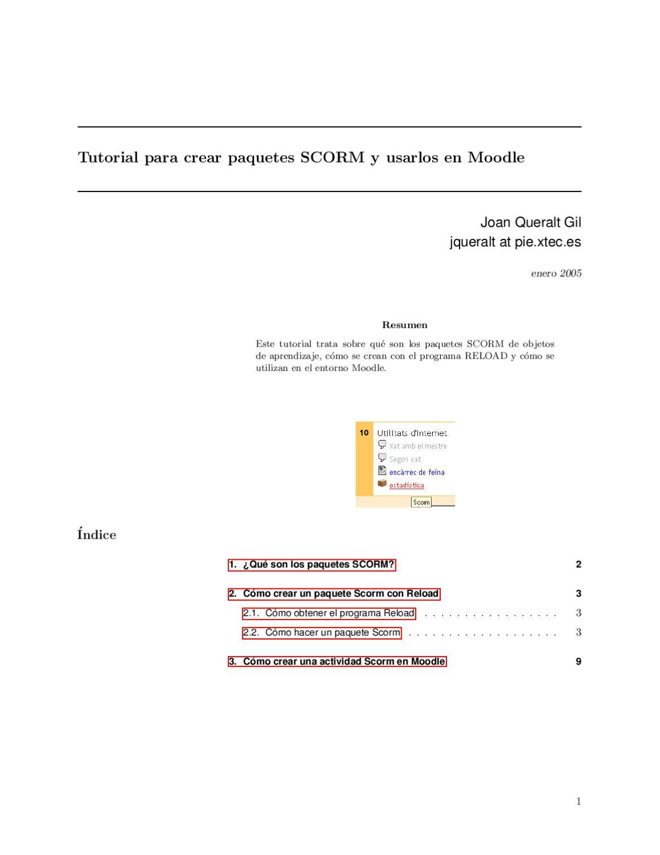 Tutorial para crear paquetes SCORM y usarlos en Moodle by Lucia
