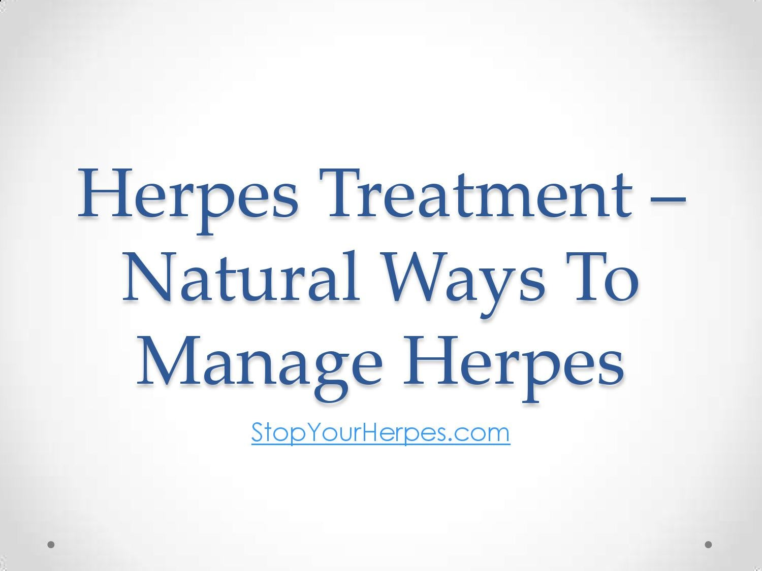 Natural Ways To Stop Herpes Outbreaks