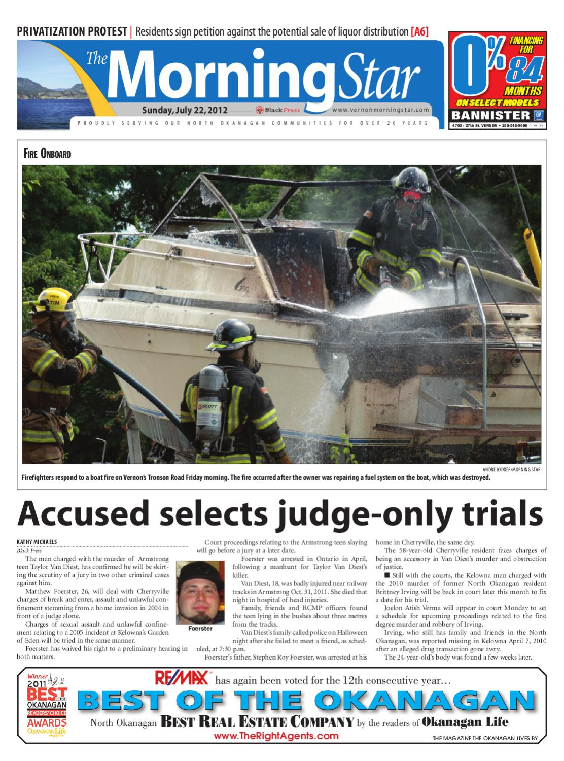 Vernon Morning Star, July 22, 2012 by Black Press Media Group - issuu