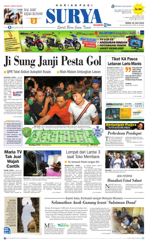E Paper Surya Edisi 23 Juli 2012 By Harian Surya Issuu