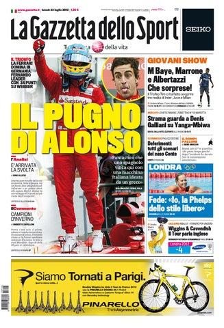 5c6046b671 Gazzetta dello Sport 23/07/2012 | SAS by seriea streaming - issuu