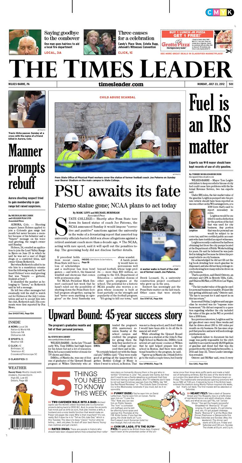 Times Leader 07 23 2012 By The Wilkes Barre Publishing