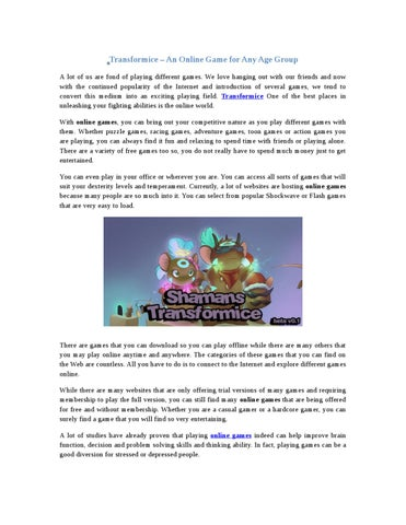 Play Transformice Game Online by Adelina John - issuu