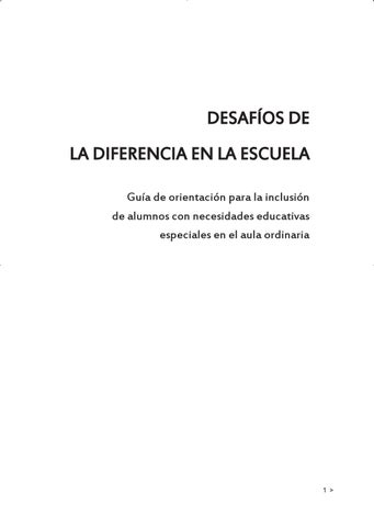 DESAFIOS DE LA DIFERENCIA EN LA ESCUELA by Escuelas Católicas - issuu 70dde0a4b2118
