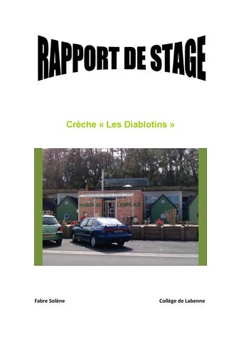 Rapport De Stage Brevet Des Colleges 3eme By Barroso Christine Issuu