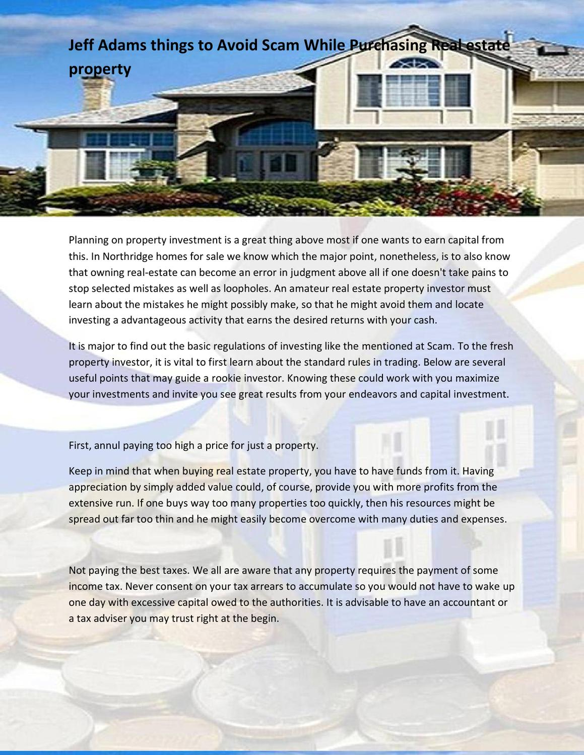 investment capital real estate scam